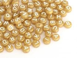 Acheter 200 perles lettres alphabet rondes en plastique - doré - 3,49€ en ligne sur La Petite Epicerie - Loisirs créatifs