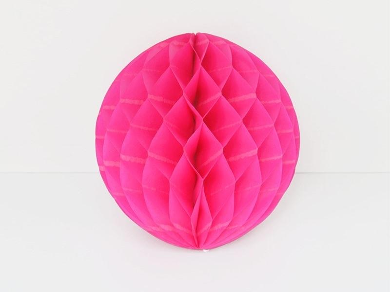 boule alvéolée 15 cm - rose fuschia