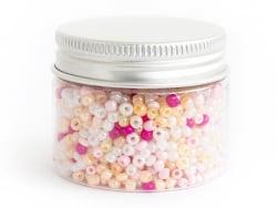 Acheter Pot de 60 grammes de perles de rocailles 3mm - nuances de roses - 3,99€ en ligne sur La Petite Epicerie - Loisirs cr...