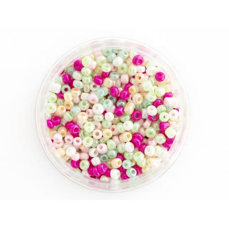 Acheter Pot de 60 grammes de perles de rocailles 3mm - nuances printanières - 3,99€ en ligne sur La Petite Epicerie - Loisir...