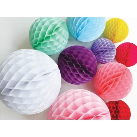 Honeycomb ball (15 cm) - sky blue