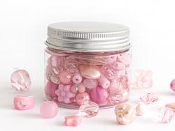 Acheter Pot de perles en plastique - nuances de rose - 4,49€ en ligne sur La Petite Epicerie - Loisirs créatifs