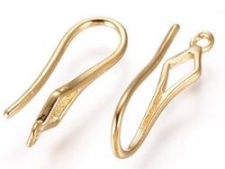 Acheter Paire de crochets d'oreilles - petit losange - doré à l'or fin 18K - 2,49€ en ligne sur La Petite Epicerie - Loisirs...