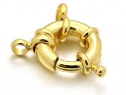 Acheter Fermoir à anneau à ressort - 17 x 6 mm - doré à l'or fin 18K - 4,49€ en ligne sur La Petite Epicerie - Loisirs créatifs