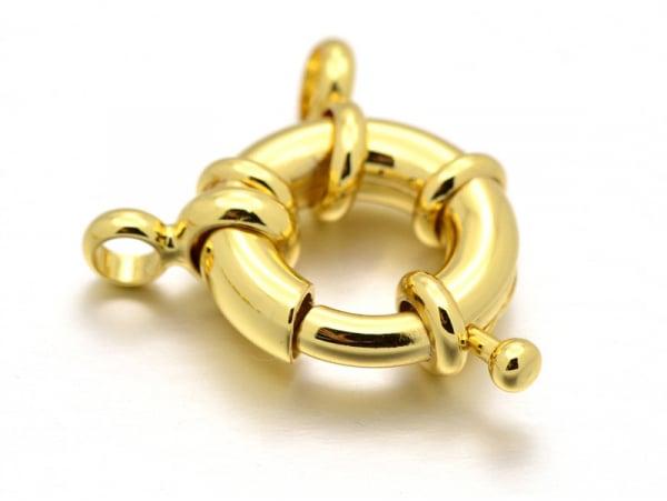 Acheter Fermoir à anneau à ressort - 15 x 5 mm - doré à l'or fin 18K - 3,99€ en ligne sur La Petite Epicerie - Loisirs créatifs
