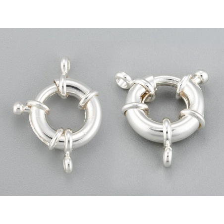 Acheter Fermoir à anneau à ressort - 15 x 5 mm - flash argent 925 - 3,99€ en ligne sur La Petite Epicerie - Loisirs créatifs