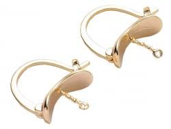 Acheter Paire de boucles d'oreilles pour pierre ou perle - 17 x 14,5 mm - doré à l'or fin 18K - 4,99€ en ligne sur La Petite...