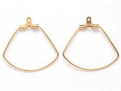 Acheter Lot de 2 intercalaires en fil d'acier inoxydable - doré - forme de feuille - 27 x 26 mm - 1,79€ en ligne sur La Peti...