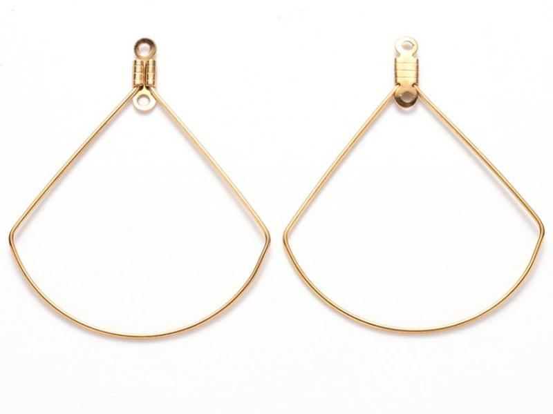 Acheter Lot de 2 intercalaires en fil d'acier inoxydable - doré - forme de feuille - 40 x 32 mm - 1,79€ en ligne sur La Peti...