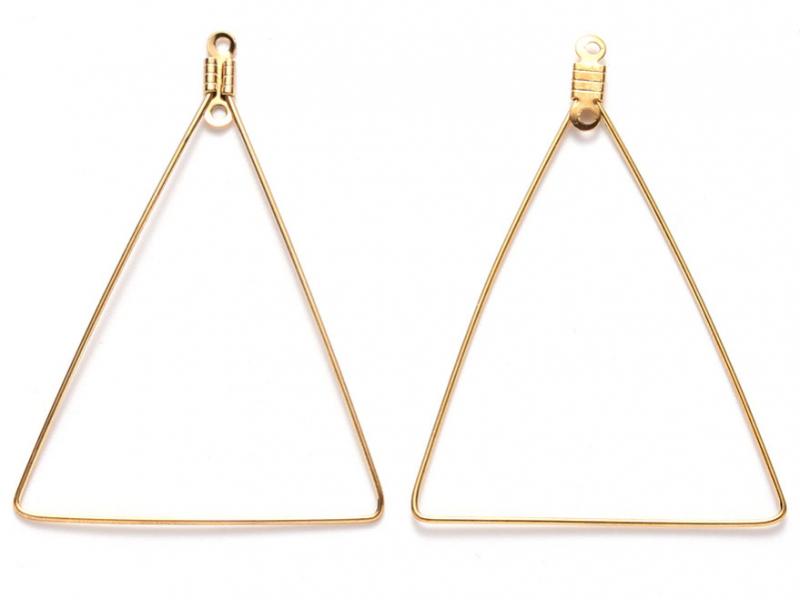 Acheter Lot de 2 intercalaires en fil d'acier inoxydable - doré - triangle - 1,79€ en ligne sur La Petite Epicerie - Loisirs...