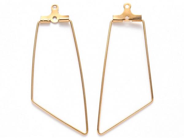 Acheter Lot de 2 intercalaires en fil d'acier inoxydable - doré - géométrique - 1,79€ en ligne sur La Petite Epicerie - Lois...