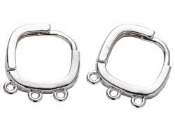 Acheter Paire de boucles d'oreilles huggies - 3 anneaux - flash platine - 4,99€ en ligne sur La Petite Epicerie - Loisirs cr...