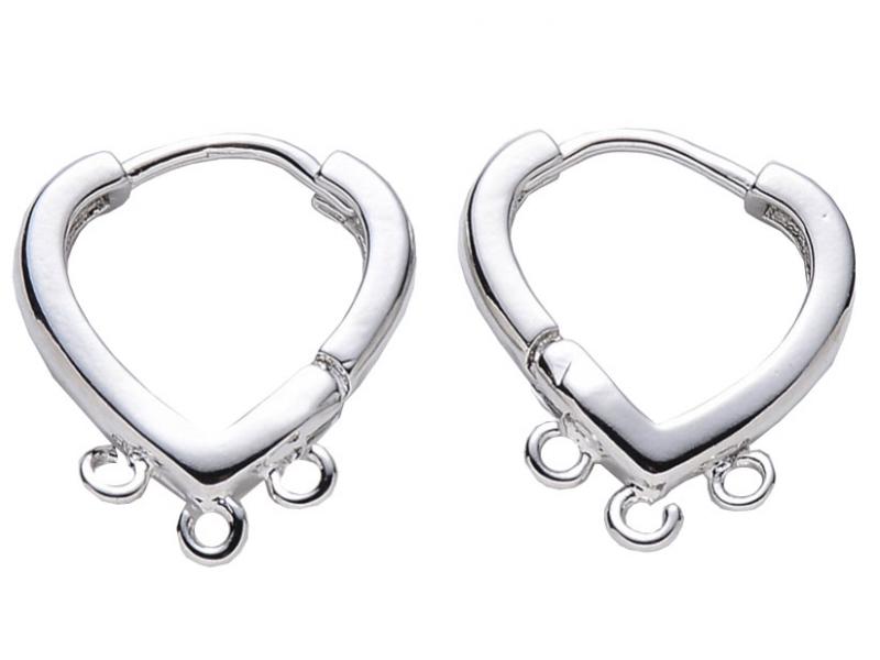Acheter Paire de boucles d'oreilles huggies - forme goutte 3 anneaux - flash platine - 4,89€ en ligne sur La Petite Epicerie...