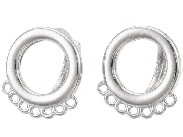 Acheter Paire de boucles d'oreilles créoles - forme ronde - 15,5 x 14 x 13,5 mm - flash platine - 4,99€ en ligne sur La Peti...
