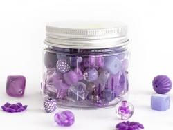Acheter Pot de perles en plastique - nuances de violet - 4,49€ en ligne sur La Petite Epicerie - Loisirs créatifs