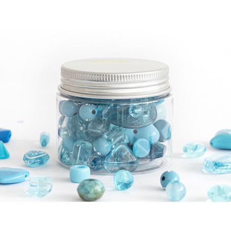 Acheter Pot de perles en plastique - nuances de bleu - 4,49€ en ligne sur La Petite Epicerie - Loisirs créatifs