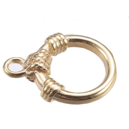 Acheter Fermoir toogle - 14,5 x 11 x 3 mm - doré à l'or fin 18K - 3,29€ en ligne sur La Petite Epicerie - Loisirs créatifs