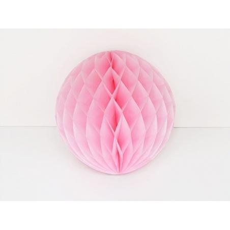 boule alvéolée 25 cm - rose pétale