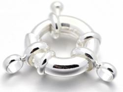 Acheter Fermoir à anneau à ressort - 13 x 5 mm - flash argent 925 - 3,69€ en ligne sur La Petite Epicerie - Loisirs créatifs