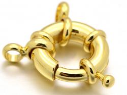 Acheter Fermoir à anneau à ressort - 13 x 5 mm - doré à l'or fin 18K - 3,69€ en ligne sur La Petite Epicerie - Loisirs créatifs