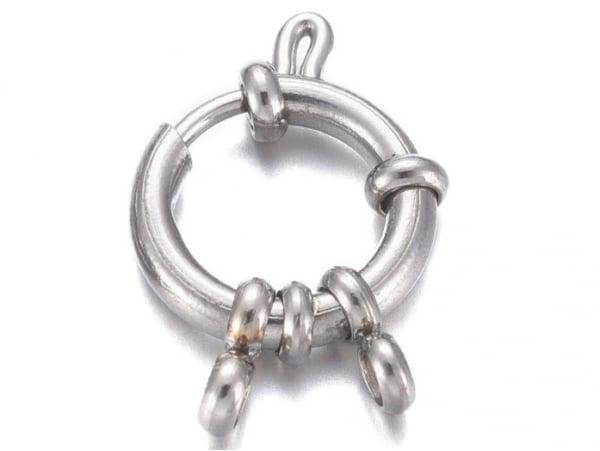 Acheter Fermoir à anneau à ressort en acier inoxydable 304 - 23 x 14 mm - 3,99€ en ligne sur La Petite Epicerie - Loisirs cr...