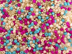 Acheter Pot de 60 grammes de perles de rocailles 3mm - rose et bleu - 3,99€ en ligne sur La Petite Epicerie - Loisirs créatifs