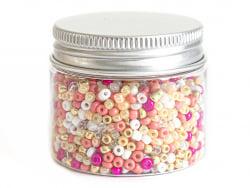 Acheter Pot de 60 grammes de perles de rocailles 3mm - nuances orangées - 3,99€ en ligne sur La Petite Epicerie - Loisirs cr...