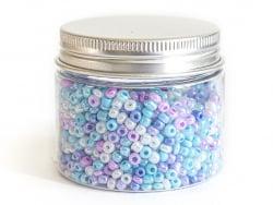 Acheter Pot de 60 grammes de perles de rocailles 3mm - nuances de bleu - 3,99€ en ligne sur La Petite Epicerie - Loisirs cré...