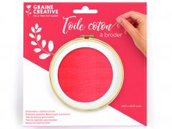 Acheter Toile coton à broder - Rouge 45 x 60 cm - 3,69€ en ligne sur La Petite Epicerie - Loisirs créatifs