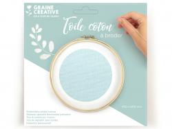 Acheter Toile coton à broder - Vert d'eau 45 x 60 cm - 3,69€ en ligne sur La Petite Epicerie - Loisirs créatifs
