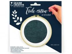 Acheter Toile coton à broder - Bleu minéral 45 x 60 cm - 3,69€ en ligne sur La Petite Epicerie - Loisirs créatifs