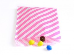 Acheter 25 sacs en papier à rayures - rose vif - 5,50€ en ligne sur La Petite Epicerie - 100% Loisirs créatifs