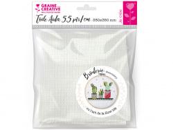 Acheter Toile Aida 5.5 pts/cm - Blanc 35 x 35 cm - 4,19€ en ligne sur La Petite Epicerie - Loisirs créatifs