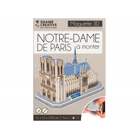Acheter Puzzle maquette - Notre-Dame de Paris - 9,89€ en ligne sur La Petite Epicerie - Loisirs créatifs