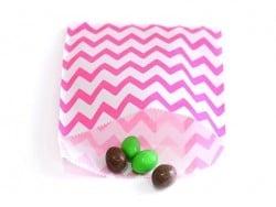 25 sacs en papier - zigzag rose fushia  - 1