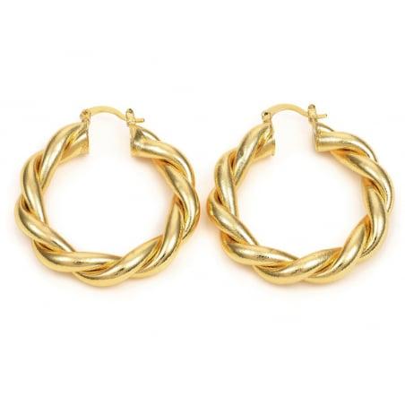 Acheter Paire boucle d'oreilles créoles grosse torsade - doré à l'or fin 18K - 45 mm - 9,99€ en ligne sur La Petite Epicerie...