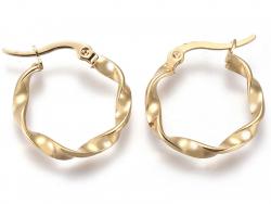 Acheter Paire boucle d'oreilles créoles torsadée - en acier inoxydable - 21 mm - 2,19€ en ligne sur La Petite Epicerie - Loi...