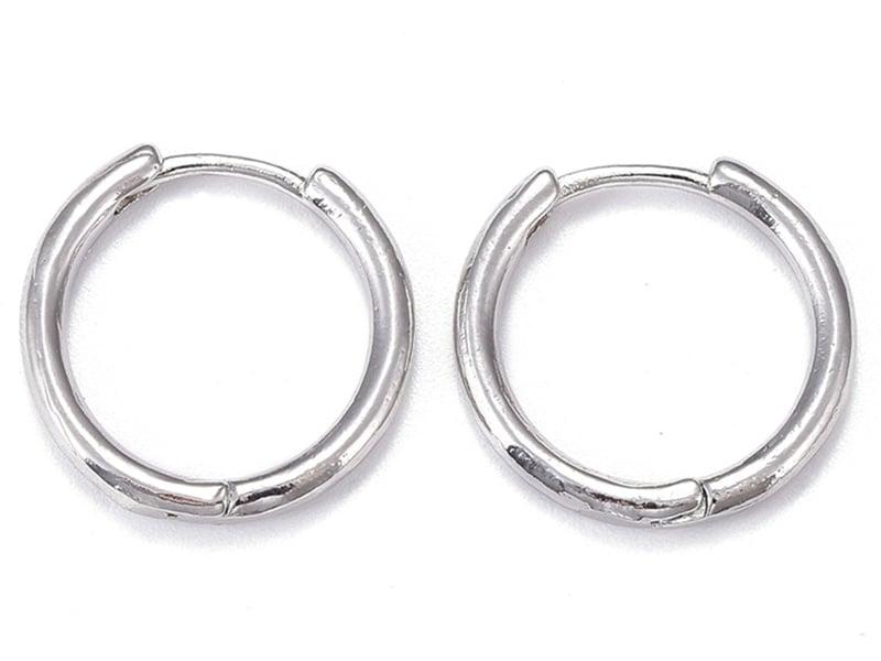 Acheter Paire boucle d'oreilles créoles huggie - flash platine - 17 mm - 5,49€ en ligne sur La Petite Epicerie - Loisirs cré...