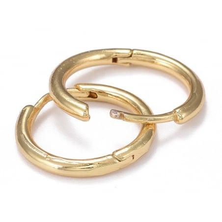 Acheter Paire boucle d'oreilles créoles huggie - doré à l'or fin 18K - 17 mm - 5,49€ en ligne sur La Petite Epicerie - Loisi...