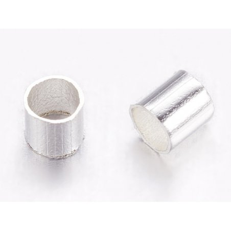 Acheter 100 perles à écraser tube 2 mm - couleur argentée - 0,29€ en ligne sur La Petite Epicerie - Loisirs créatifs