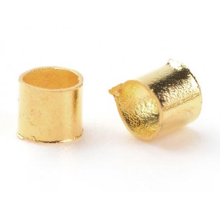 Acheter 100 perles à écraser tube 2 mm - couleur doré - 0,29€ en ligne sur La Petite Epicerie - Loisirs créatifs