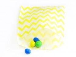 25 sacs en papier - zigzag jaune