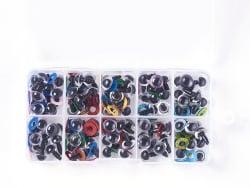 Acheter Boite de 50 paires d'yeux de sécurité à clipser pour peluches ou amigurumi - 10 mm - 13,99€ en ligne sur La Petite E...