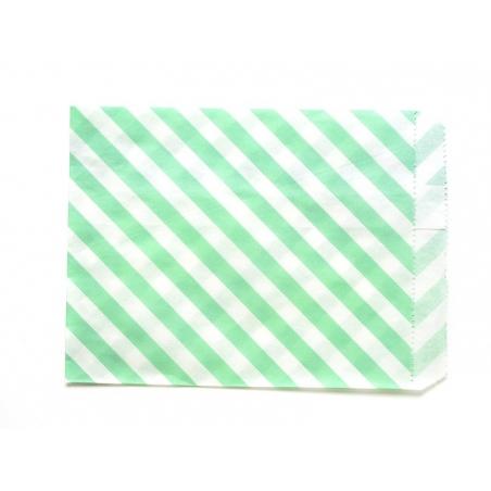 25 sacs en papier à rayures - vert menthe  - 3