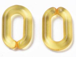 Acheter 50 maillons en plastique 15 x 9 mm - à connecter pour création de chaîne - orange transparent - 1,29€ en ligne sur L...