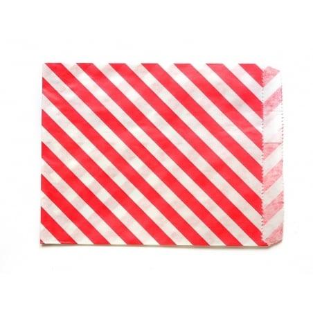 25 sacs en papier à rayures -  rouge  - 2