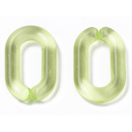Acheter 50 maillons en plastique 15 x 9 mm - à connecter pour création de chaîne - vert transparent - 1,29€ en ligne sur La ...