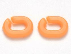 Acheter 50 mini maillons en plastique 9 x 6 mm - à connecter pour création de chaîne - orange corail - 1,99€ en ligne sur La...