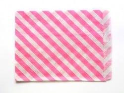 25 sacs en papier à rayures -  rose vif