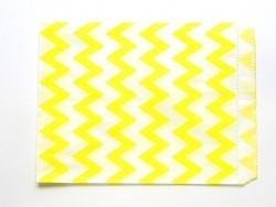 25 sacs en papier - zigzag jaune  - 3